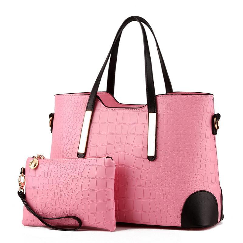 90e86ce30e1 Women Bag Crocodile Pattern Composite Bag Vintage Women Messenger ...