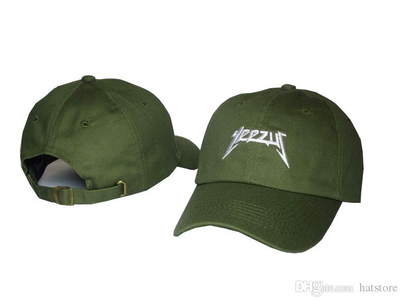 ceaef56dcc3f9f YEEZUS Army Green Men Peaked Caps Baseball Cap Golf Cap Bent Brimmed Hat  Casquette Outdoor Hunting Curve Snapback Hats Sun Caps PPMY Hat Store Ny Cap  From ...