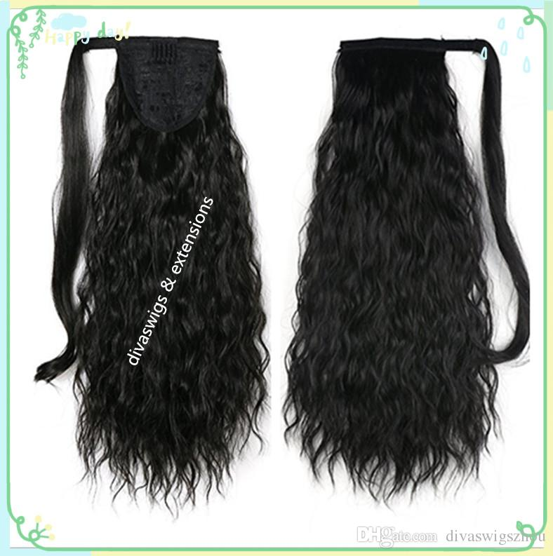 Fashion Curly Human Hair Ponytail For Black Women Brazilian Virgin Hair 140g Drawstring Ponytail Hair Extensions 10-24 inch