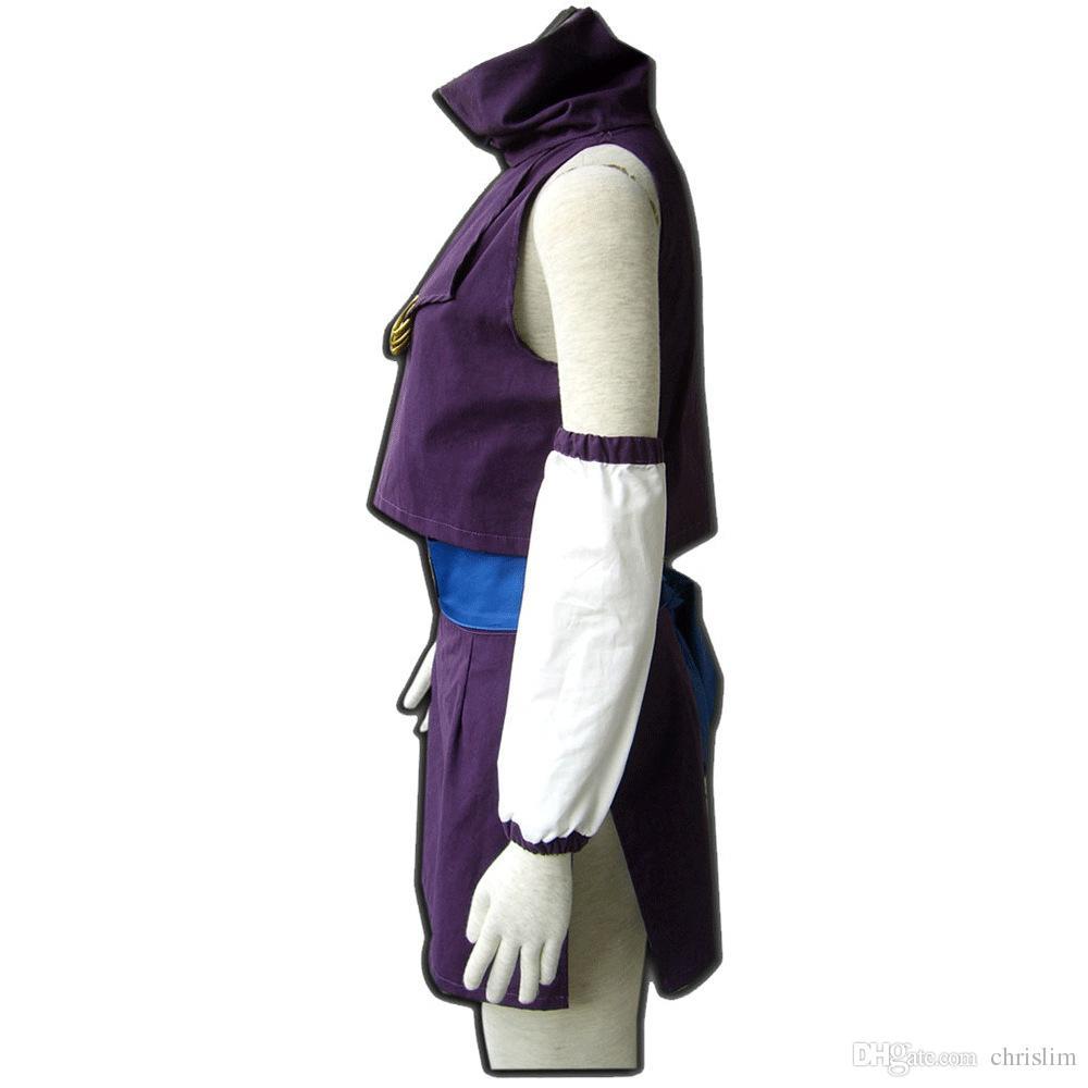 Japanese Anime Naruto Cosplay Young Yamanaka Ino Costume top +skirt +sleevelet+ waistband set for adults