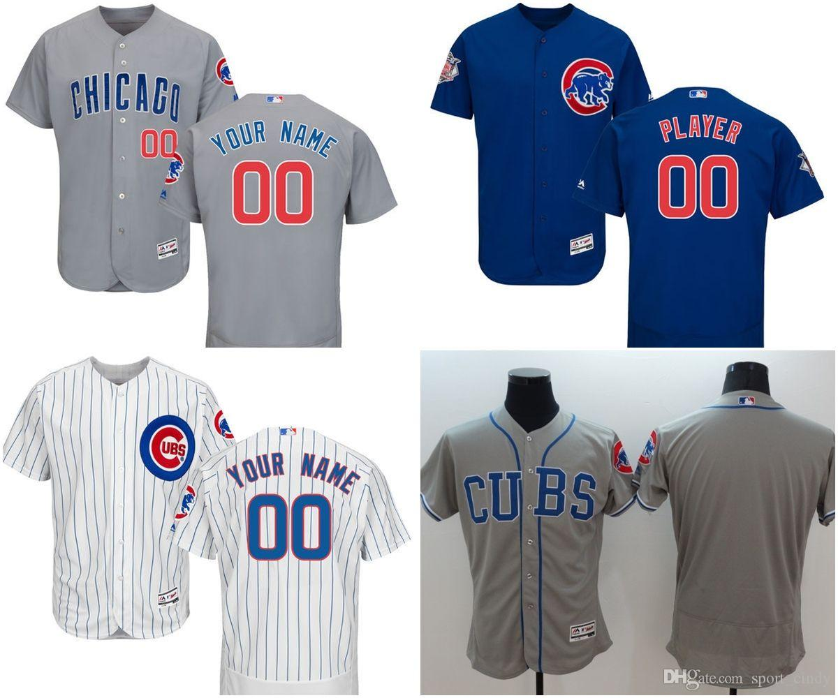 96574ca5e 2019 MLB Customized Chicago Cubs Jerseys FlexBase Baseball Jerseys  BRYANT 17 RIZZO 44 BANKS 14 Any Name Any Number White Grey Blue From  Sport cindy