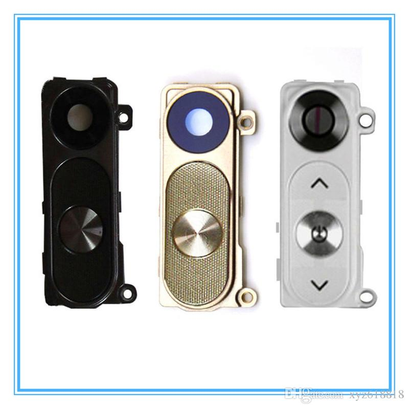 New Rear Camera Glass For LG G3 D855 D855 D851 Camera Glass Lens With Frame Cover With Power Buttons Key Housing Black White Gold