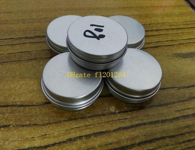 100 pçs / lote Frete Grátis 10 ml latas de alumínio lábio bálsamo recipiente, 10g frascos de creme de alumínio com tampa de rosca caso cosmético jar