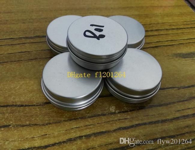 / liberan latas de aluminio de 10 ml de envío de contenedores bálsamo del labio, tarros de crema 10g de aluminio con tapa de rosca tarro caso cosmético