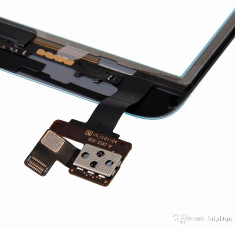 iPad mini 1 2 3 터치 스크린 유리 디지타이저 어셈블리 집 버튼 부착 IC 포함 접착제 글씨 스티커 교체 부품 미니 5