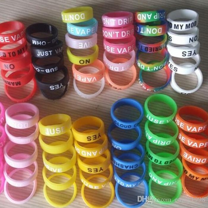 Newest Vape Band Free DHL Shipping Silicone Rings Colorful Decoration Protection Rubber Rings Vape Bands For Evod