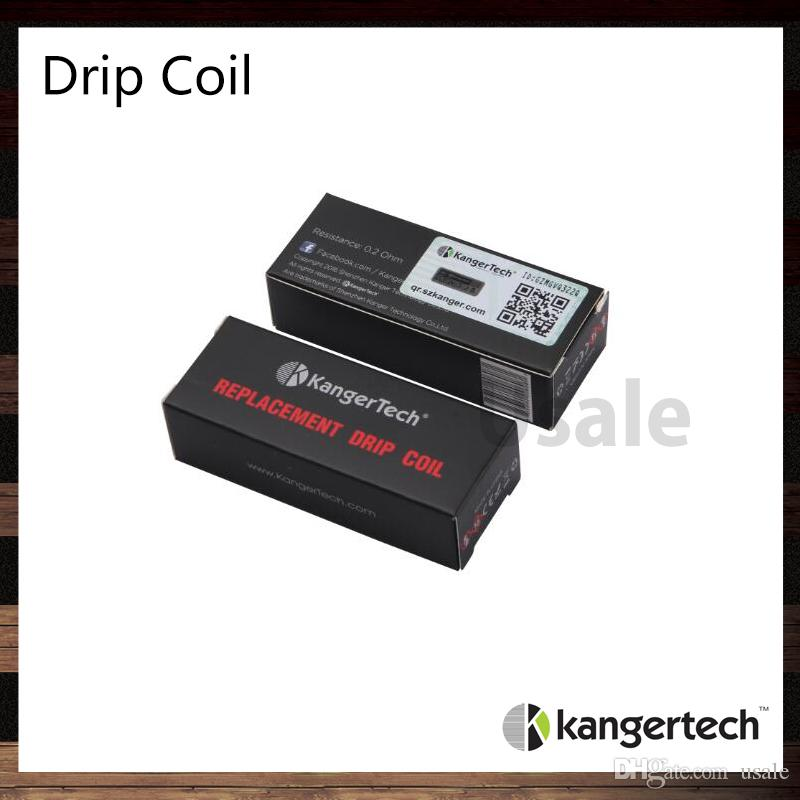 Bobina De Gotejamento Kanger Para Kit Dripbox starter 0.2ohm Substituível Drill Coil Cabeça Atomizador Para Kit Dripbox 100% Original