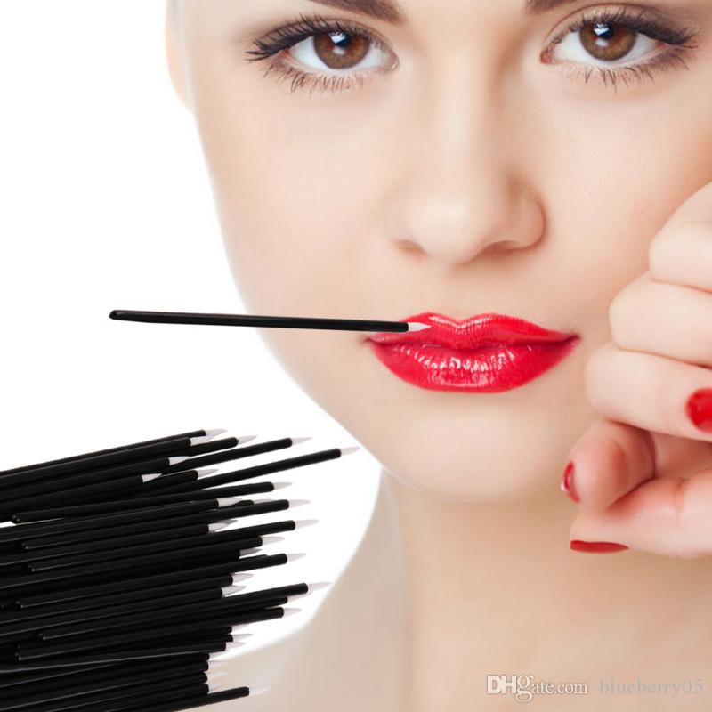 300 unids / lote desechables maquillaje de ojos delineador de ojos cepillos One-head Eye Liner Liquid Wand aplicador cosméticos cepillos herramientas