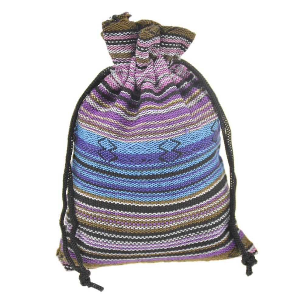 8d8810726c 2019 10x14cm Small Drawstring Jewelry Bags Cotton Gift Package Pouches  Multicolor Stripe Handmade Ethnic Tribal Tribe Style 3.9  X5.5   From  Lanwaytrade