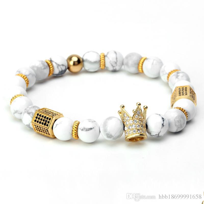 Royal Natural Matte Achat Stein Perlen Handmade Healing Energy Handgelenk Armband für Männer und Frauen Medium