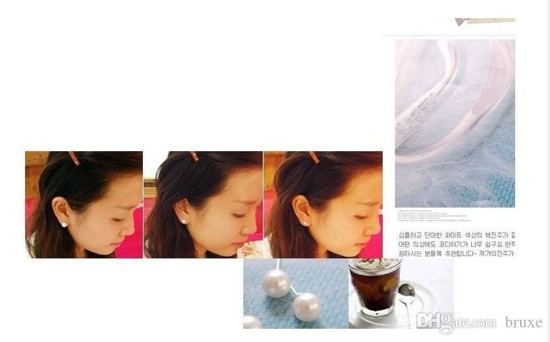 Presentes individualmente envolto brincos de pérola por atacado das mulheres Taobao 6mm brincos pequenos brincos para dar como presentes