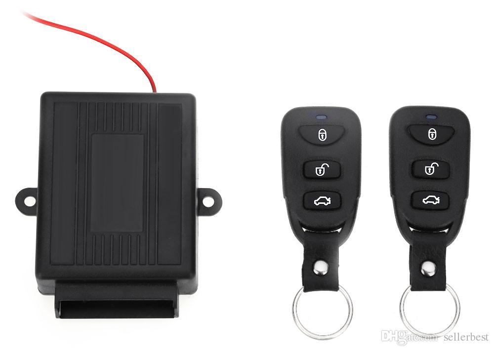 Novo 2017 Universal Car Auto Kit Central Remoto Fechadura Da Porta de Bloqueio Do Veículo Keyless Entry System Novo Com Controladores Remotos