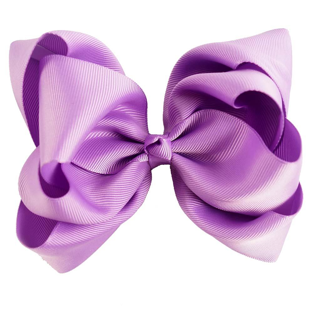 5 Inch Double Stack Hair Bow with Clip For Girl Handmade Boutique Grosgrain Ribbon Bows For Girl