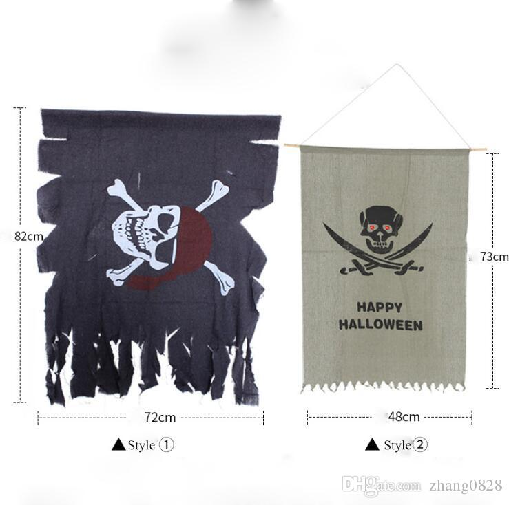 Adereços de Halloween decoração da casa dobra anel de flor bandeira Coréia toque bandeira pendurada enfeites de pirata bandeira cortina paródia brinquedo