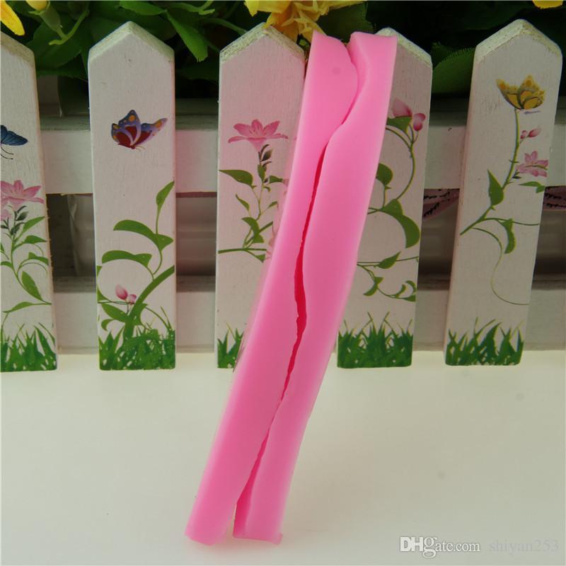 Moldes de silicona Lily Petal para moldes de pastel de azúcar para Sugarcraft, herramientas de corte de flores de pétalo, DIY Lily9.4 * 3.5 cm