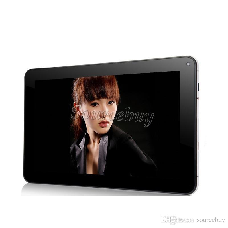 Livraison Gratuite 8GB ROM 9 pouces A33 Allwinner Quad Core 1.5GHz Tablet PC Google Android 4.4 Bluetooth 512MB RAM Double Caméras Wifi