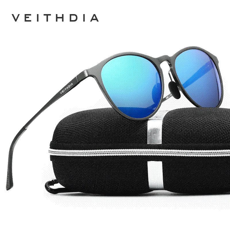 12fc6ccdcb9 VEITHDIA Unisex Retro Aluminum Magnesium Brand Sunglasses Polarized ...