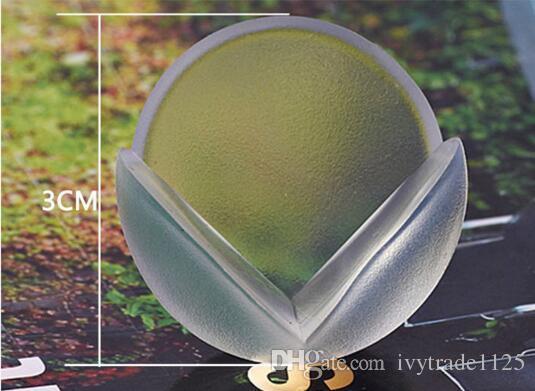 مع شريط لاصق لينة PVC شفاف سلامة الطفل الكرة على شكل حراس ركن حامي / رعاية الأطفال الجدول زاوية المضادة للتصادم وسادة