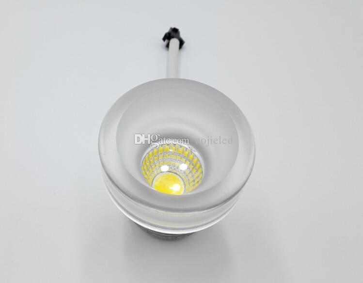 Regulable 5W Alta potencia Aluminio + Acrílico COB llevó luces empotradas en el techo lámparas downlight para sala de estar dormitorio