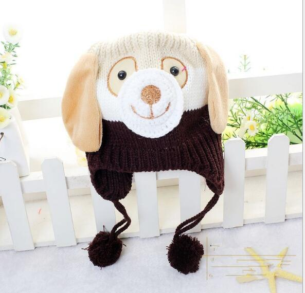 Berretti di Natale all'uncinetto bambini Berretti di Natale a forma di cane Berretti a forma di cane Berretti invernali bambini Tenere caldo Multi colori 0-4T