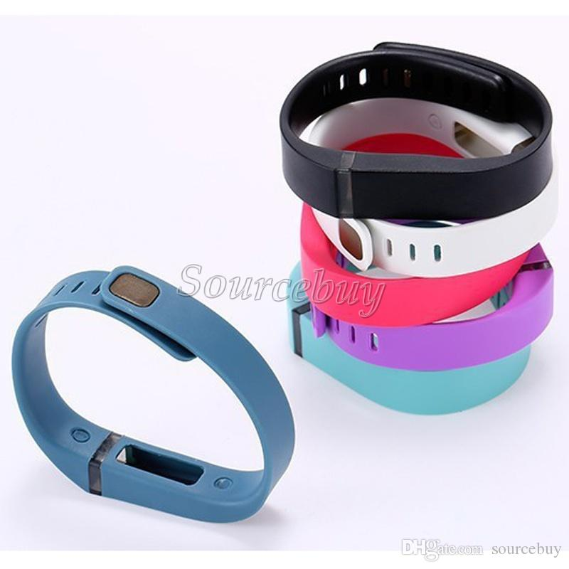 Fitbit Flex Band Large Small Size Ersatz mit Metallverschluss Gummi TPU Handschlaufe Wireless Activity Bracelets Sport-Armband Free DHL