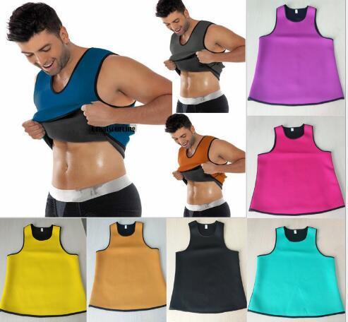 37109448e4 Compre DHL Livre Ultra Sweat Shapers Do Corpo Dos Homens Cinto De  Emagrecimento Barriga Sweat Espartilho Neoprene Trainer Cintura Em Torno Do  Pescoço Colete ...