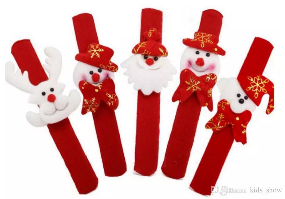 Weihnachten Patting Kreis Phnom Penh Armband Uhr Weihnachten Kinder Geschenk Weihnachtsmann Schneemann Hirsch Neujahr Party Spielzeug Handgelenk Dekoration