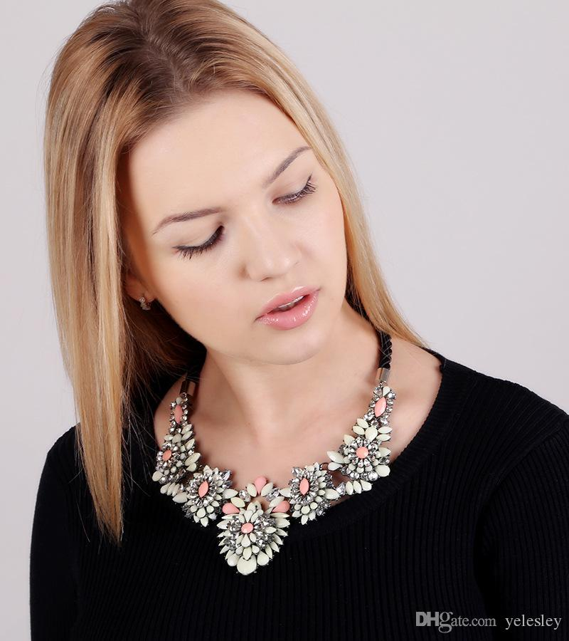 collar necklace & pendant chunky luxury choker simulated pearl Necklace statement necklace Pearl Wedding Party Jewelry Sets