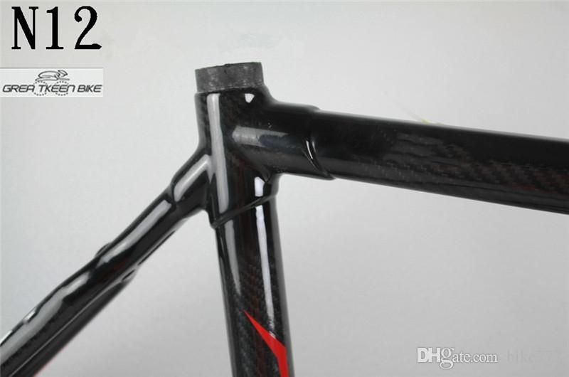 Carbon fiber T800 DCRF03 N12 BSA sport e bike electric road bicycle Frame