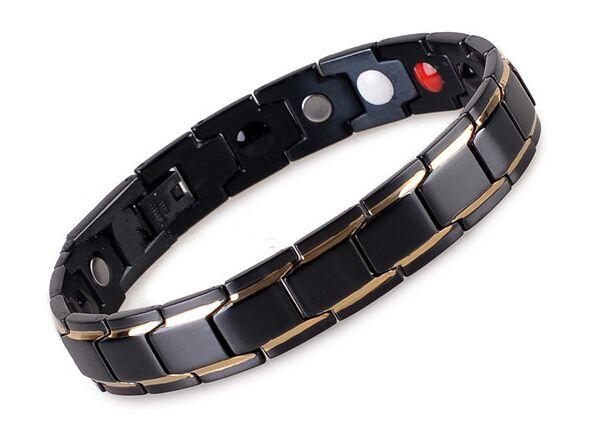 Nuovo braccialetto di salute magnetico dell'acciaio inossidabile di arrivo 2016 con i benefici anion del raggio infrarosso del germanio con trasporto libero