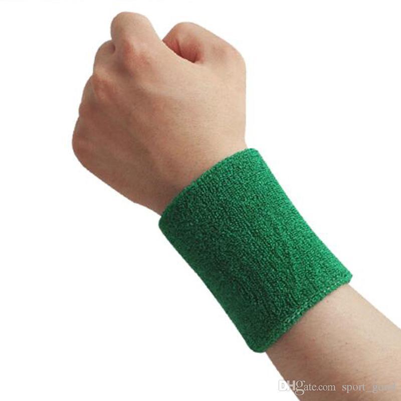 Cotton Feito Elastic apoio para o punho de protecção de segurança Ginásio Braçadeiras Sweatbands Sporting apoio para o punho Acessório Outdoor