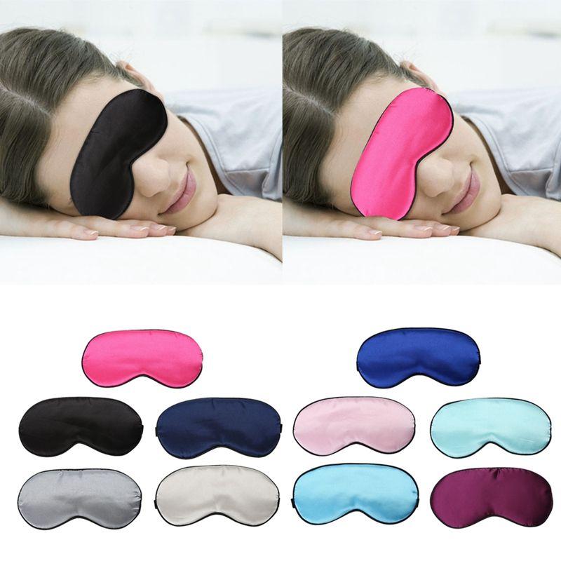 Ultra-soft Breathable Fabric Eyeshade Sleeping Eye Mask Portable Travel Sleep Rest Aid Eye Mask Cover Eye Patch Sleep Mask