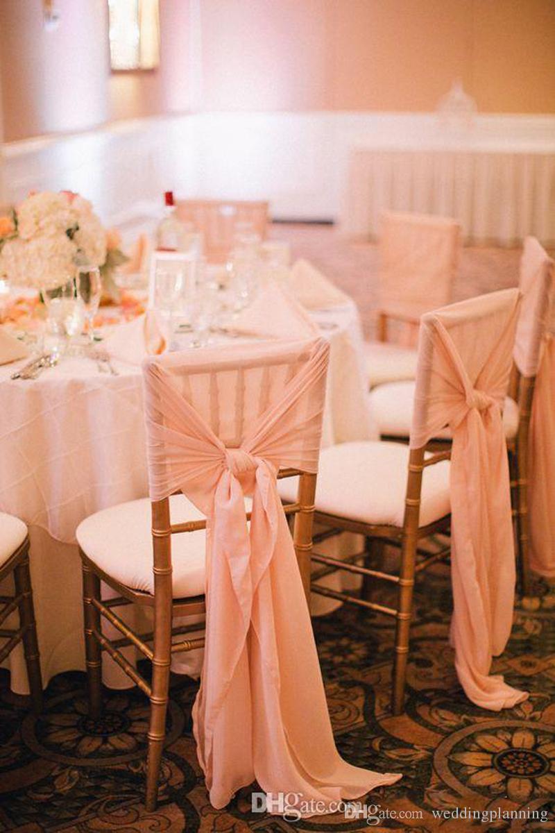 Più nuovo Chiffon Chair Sash Simple Chair Cover Weddding Custom Made Factory di alta qualità in vendita Wedding Fornitori Accessori
