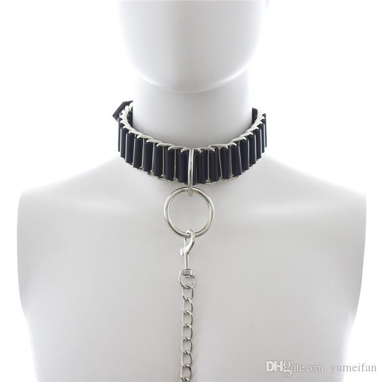 New pattern Adult Fantacy Pony Play Sex Bondage Neck Collar With Leash Restraint Fetish Adjustable Neckcollar Black
