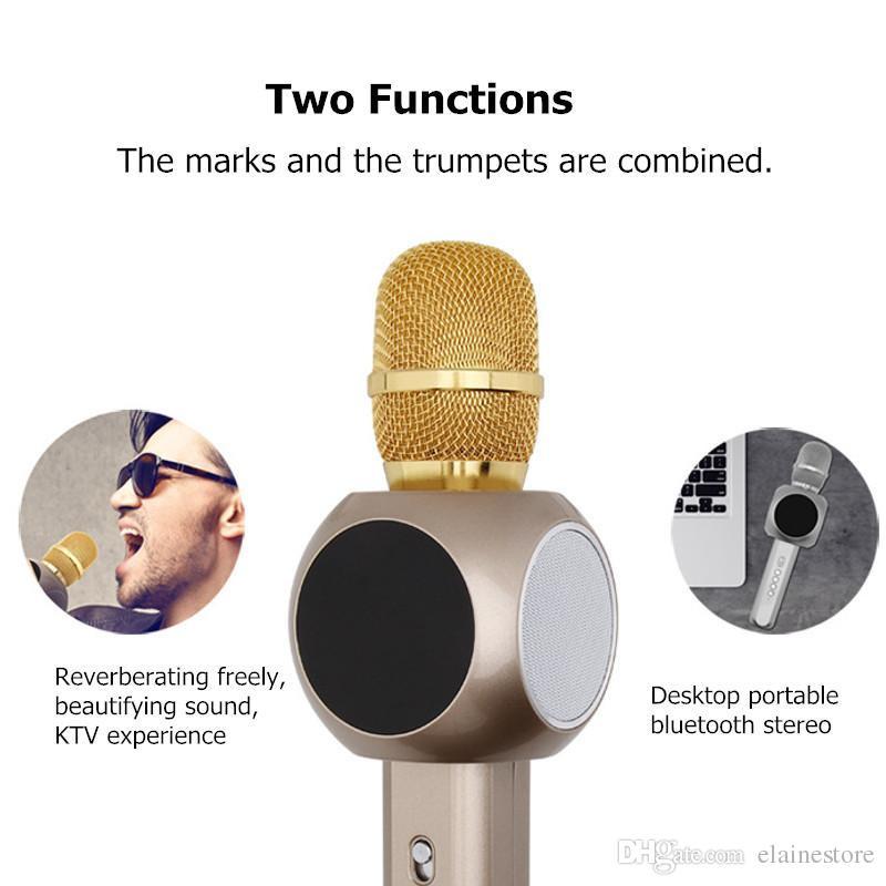 H6 Bluetooth Speaker microfono wireless con grande capienza della batteria Karaoke Altoparlante Iphone X e Android Smartphone con la scatola di vendita al dettaglio