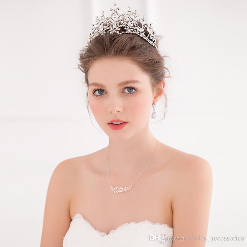 princess crown wedding tiaras hair accessories large european royal