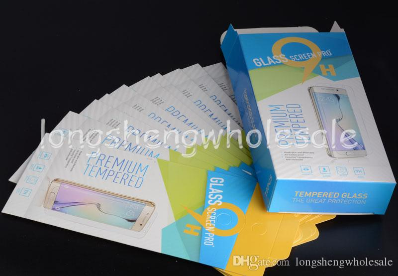 Empty Retail Package Paper Boxes each box Packaging for Premium Tempered Glass 9H Screen Protector Sony iphone samsung