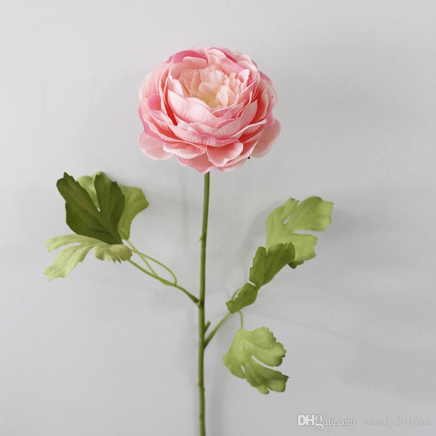 20 pçs / lote simulação flor peônia flores Artificiais de lótus aberto Flor ocidental de alta qualidade flores de seda casamento flores artificiais