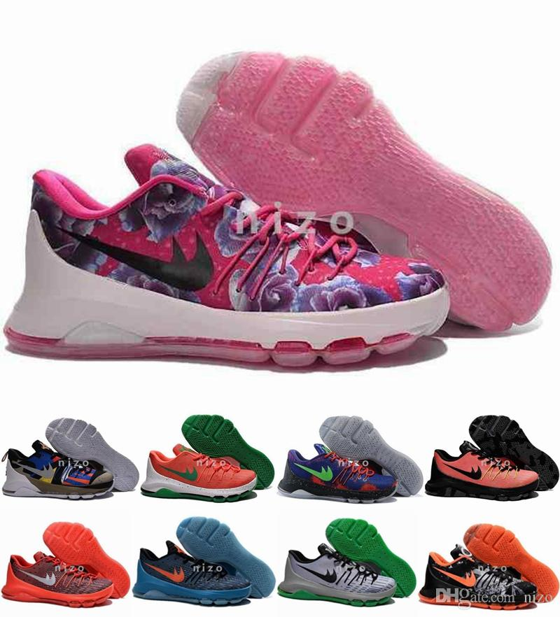 Compre 2016 Mens Kd 8 Zapatos De Baloncesto Más Nuevos De Nueva ...