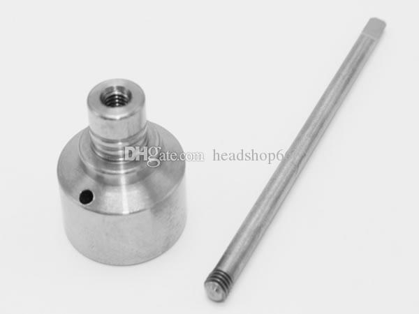Wholesale Glass Bong Tool Set 10mm & 14mm & 18mm Adjustable Domeless GR2 Titanium Nail Carb Cap Dabber Tool Plastic Jar Dab Bong Glass DHL