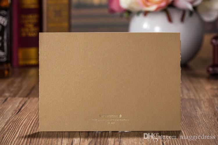 Laser Cut Wedding Invitations Gold Free Printing Wedding Invitation