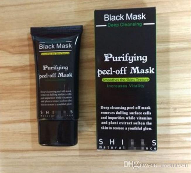 Shills Siyah Maske Siyah Nokta Remover Derin Bakım Temizleme Soyulabilir Siyah Çamur Maskesi Arındırıcı Peel Akne Siyah Kafaları Sökücü Gözenek Yüz Maskesi 570