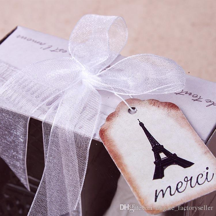 Eiffel Tower Ceramic Salt and Pepper Shakers Wedding Favors White Black Porcelain Shakers Cooking Tools =