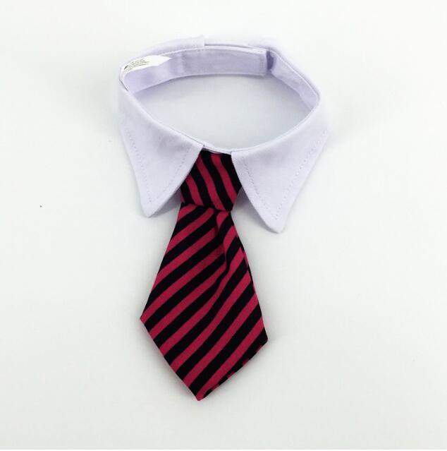 Haustier Hund gestreifte Krawatte Kragen Katze Bogen niedlichen Hund Krawatte Hochzeit einstellbar Welpe rot / blau / Khaki