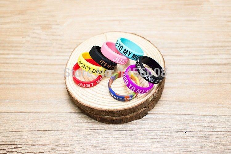 Красочные Vape полосы силиконовые кольца кремния Vape кольцо для электронной сигареты механический мод стеклянный бак нескользящие силиконовые кольца бесплатная доставка