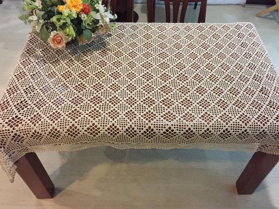 New Crochet Pattern Table Cover 100 Handmade Table Topper Hand