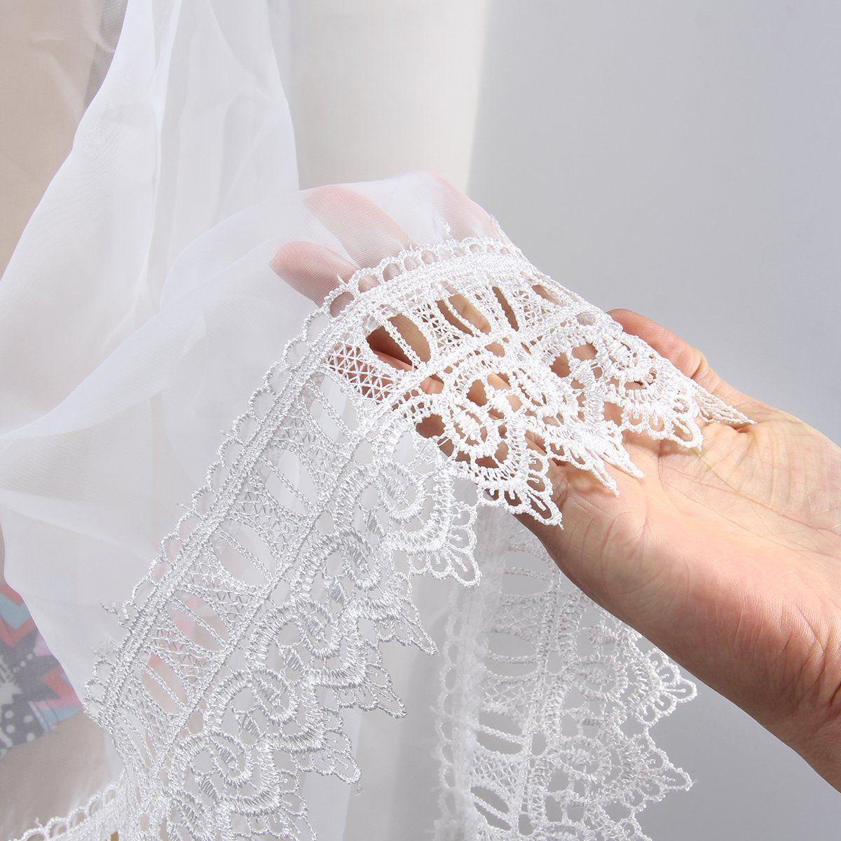 Mulheres verão maiô Sexy Lace Crochet Bikini Swimwear Cover Up vestido de praia branco em estoque envio rápido frete grátis
