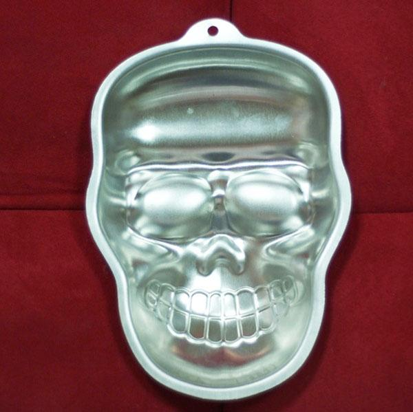 Halloween Cakes Mold Pan Skull Ghost Pumpkin Aluminum Birthday Cake mould stand 10'' Pudding Tray baking pastry tools kids party supplies