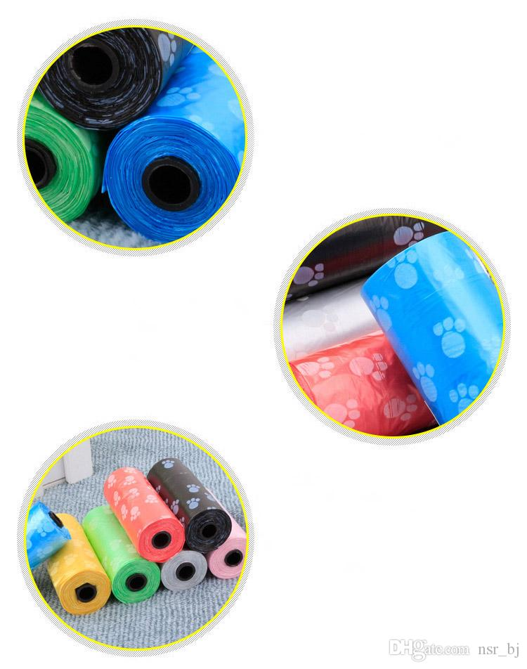 Refill Pet Poop Taschen 1500 Count mit 2 Gratis-Spender Ein Leichter Hundefutterbeutel Refill Roll Poop Müllsack, Blau Rosa