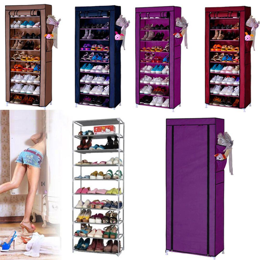 Homestyle Shoe Cabinet Shoes Racks Storage Large Capacity Home Furniture  Diy Simple 9 Layers Domestic Delivery High Quality Shipping Mat China  Furniture ...